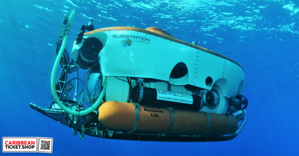 400 meters down in a submersible